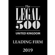 Legal 500 Leading Firm 2019