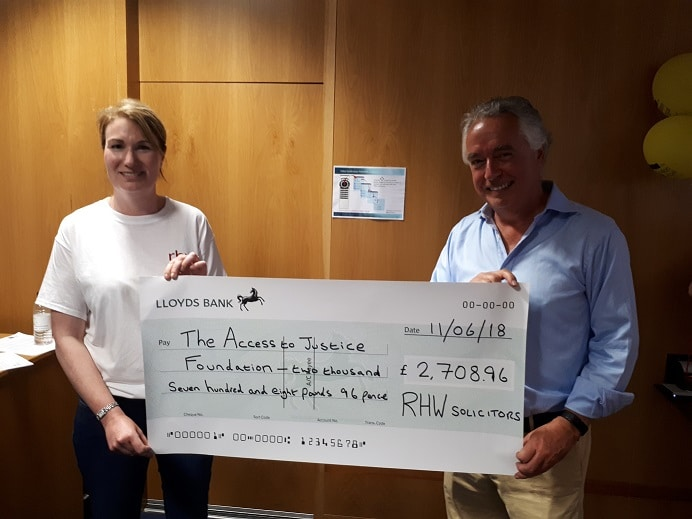 Legal Walk Cheque Photo June 18 (Surrey Law Centre)