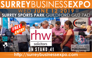 Surrey Business Expo 2019 - rhw Solicitors, Guildford, on stand 41