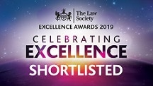 rhw Solicitors of Guilford are shortlisted in The Law Society Excellence Awards 2019