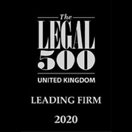 Legal 500 leading law firm, 2020