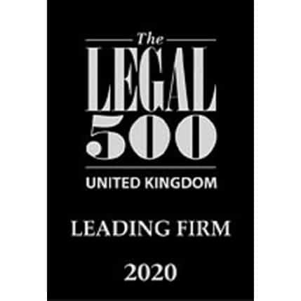 rhw solicitors are a Legal 500 leading firm 2020